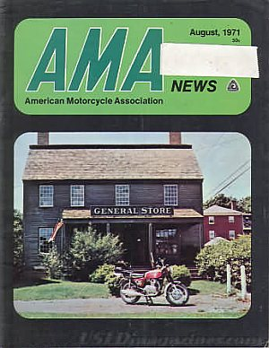 American Motorcycle Association News August 1971