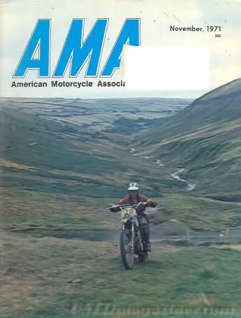 American Motorcycle Association News November 1971