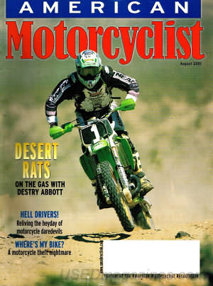 American Motorcyclist August 2001