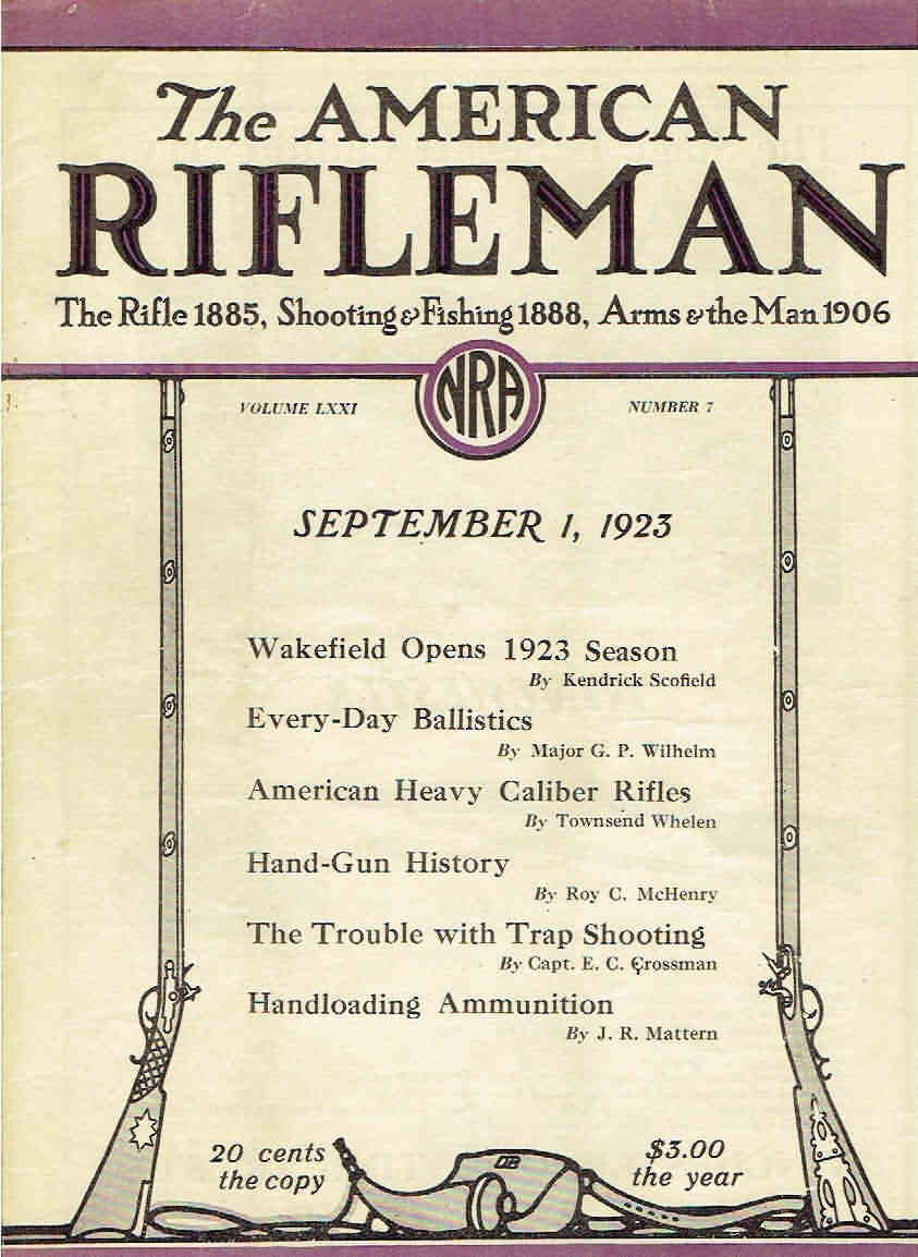 American Rifleman September 01, 1923