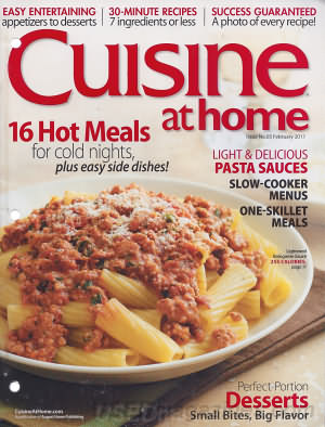 Cuisine at home February 2011