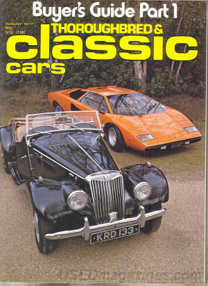 Thoroughbred & Classic Cars August 1977